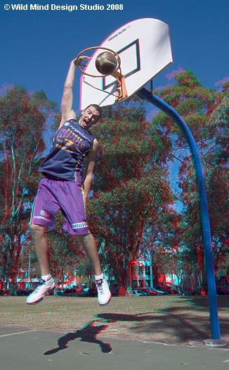 Russel Hinder - Sydney Kings 3D photograph